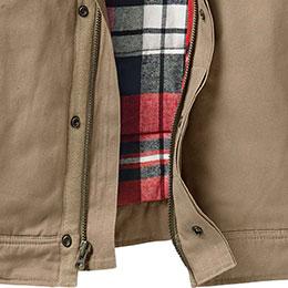 Heavy duty zipper with storm flap