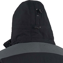 Adjustable zip-off hood