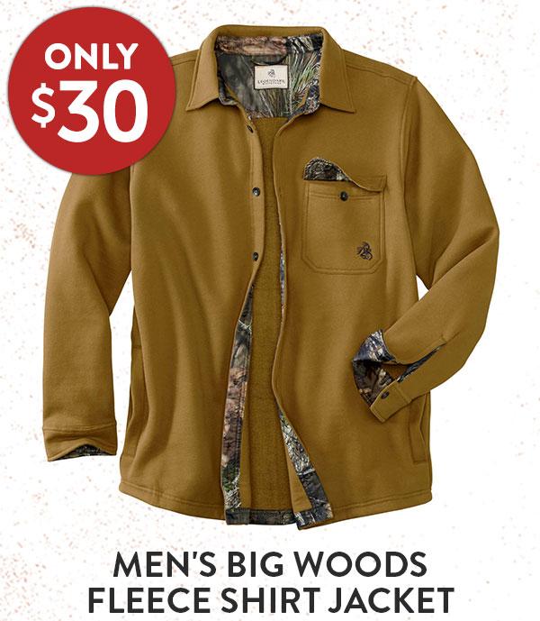 Men's Big Woods Fleece Shirt Jacket
