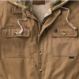 Twin buttoned chest pockets with Legendary® accents