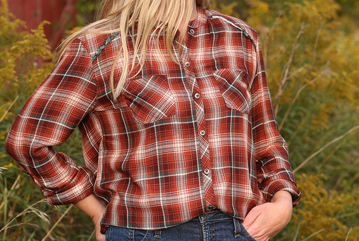 Women's Breezy Plaid Shirt