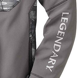 Legendary® logo down left sleeve
