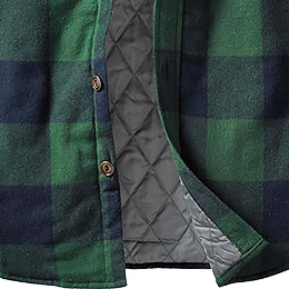 Insulated quilted lining