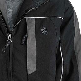 Secure left chest zipper pocket