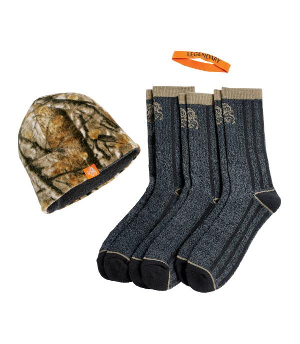 Men's Hat and Sock Bundle