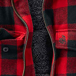 Warm, Sherpa-lined Fleece