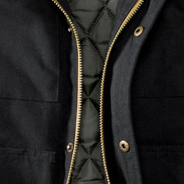 Zipper & Button Closure