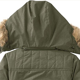 Removable zip-off hood