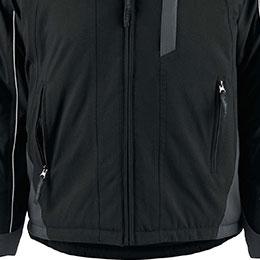 Twin zipper handwarming pockets