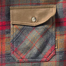 Secure left buttoned chest pocket