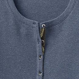 Stylish Scoop Neck with Button Placket