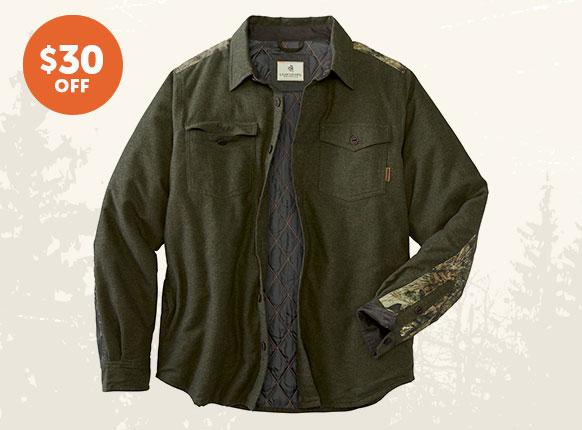 Men's Woodsman Flannel Shirt Jacket