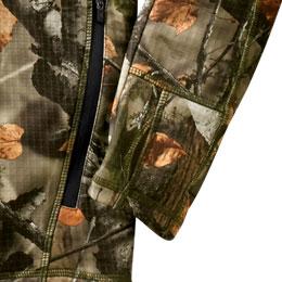 Raglan sleeves with thumbholes