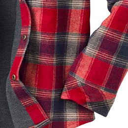 Quilted Sleeves for durability and warmth