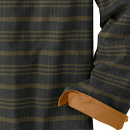 Suede knit lined cuffs