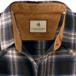 Corduroy lined collar and cuffs
