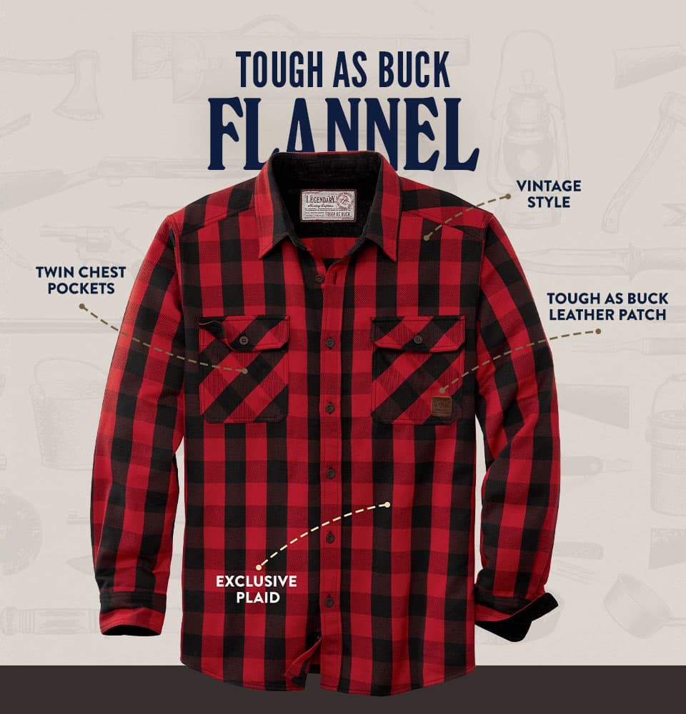 Tough As Buck Flannel