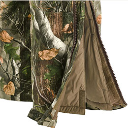 Full length two-way leg zippers