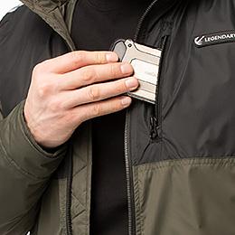 Zippered Hand & Chest Pockets