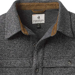 Corduroy accented collar
