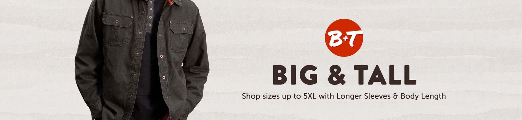 Men's Big and Tall Journeyman Shirt Jacket