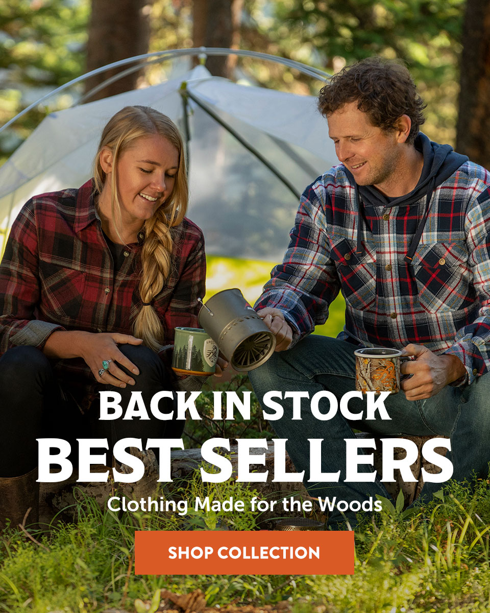 Men's Camp Night Berber Lined Flannel and Women's Cottage Escape Flannel