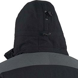 Adjustable zip-off hood