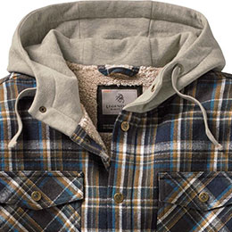 Three-panel, fleece lined adjustable hood