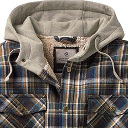 Three-panel, fleece lined adjustable hood