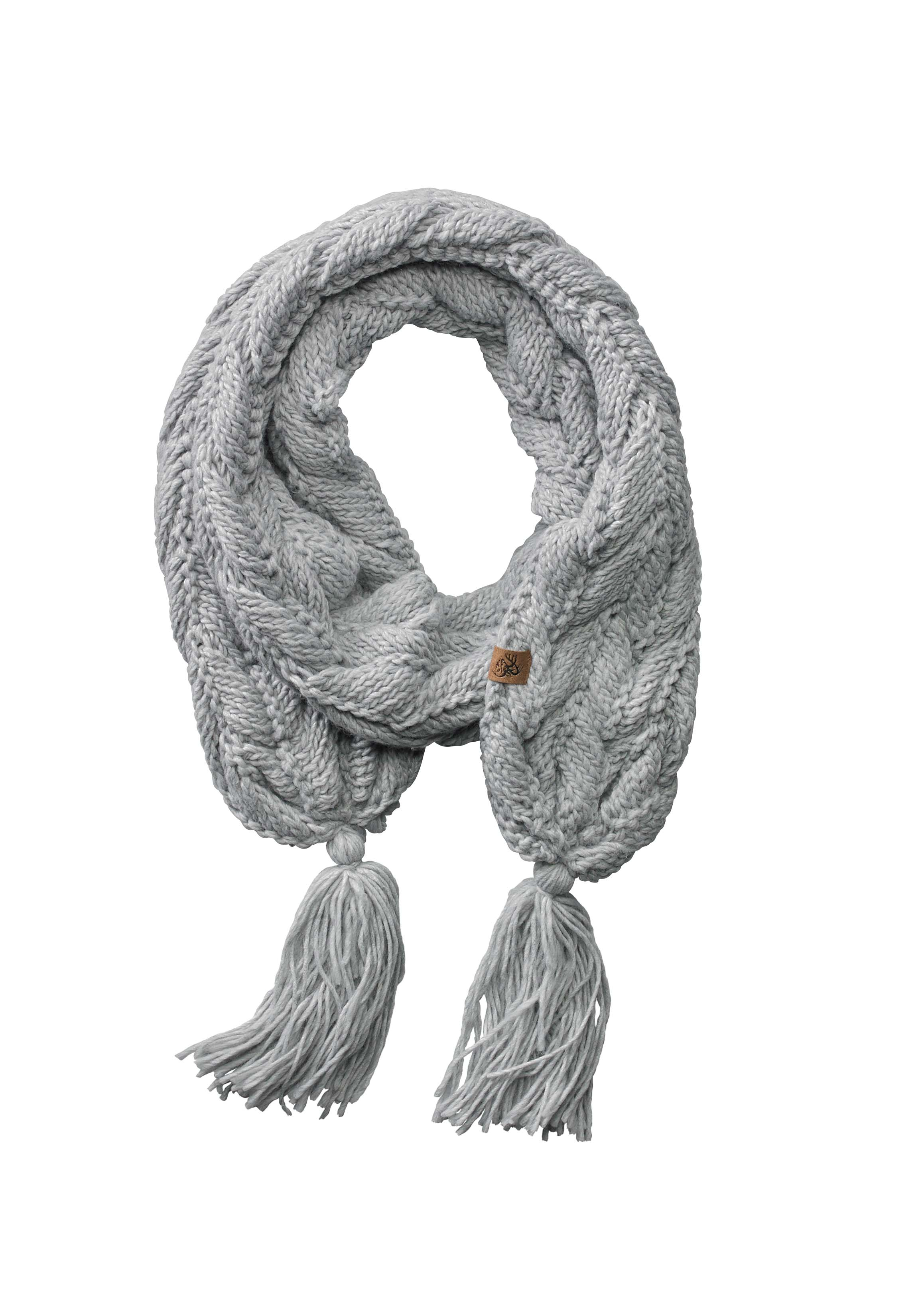Ladies North Woods Cable Knit Scarf   Legendary Whitetails
