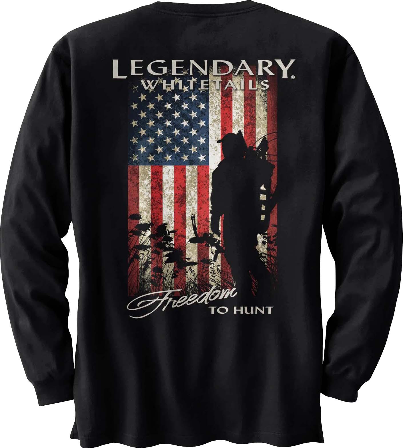 9720b9aea132 Men's Freedom to Hunt Long Sleeve T-shirt | Legendary Whitetails