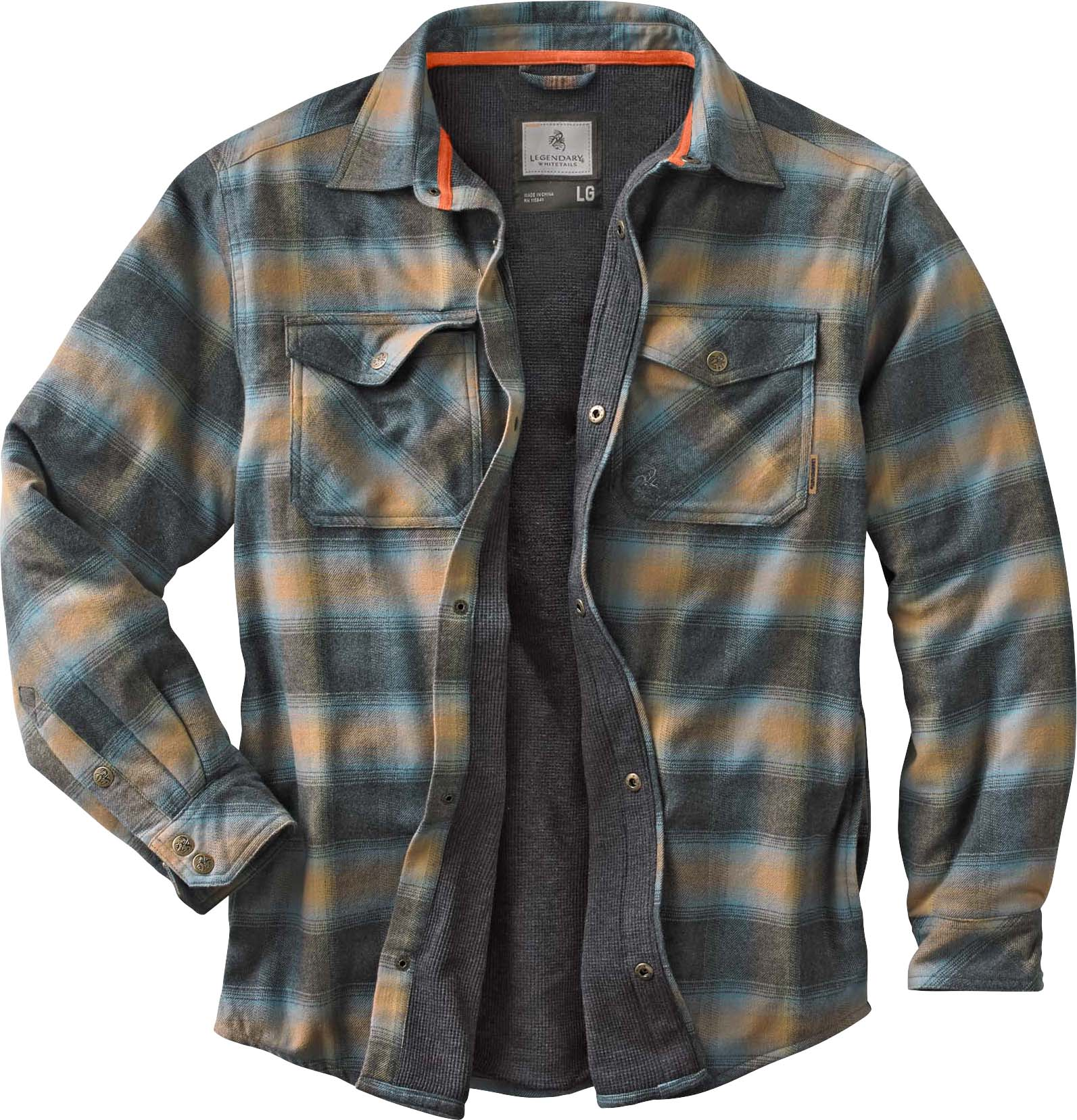 Men s Archer Thermal Lined Flannel Shirt Jacket ... 8f81fd5810a